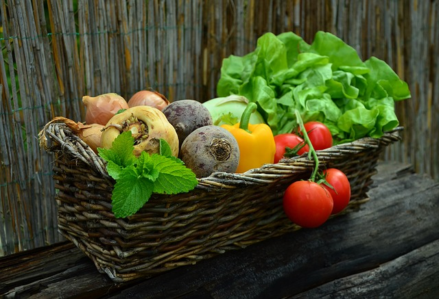 home grown vegetable basket